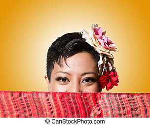 Afro-american woman isolated on white