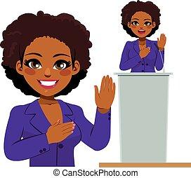 Afro American Woman Politician Oath