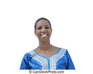 Afro beauty wearing a dress