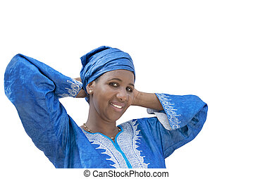Afro beauty wearing a headscarf