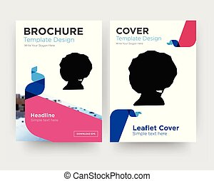 afro brochure flyer design template
