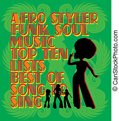 afro disco girls vector art