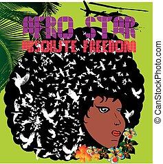 afro disco girls vector art