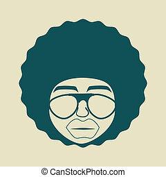 afro, estilo, diseño