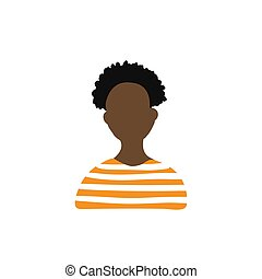 Afro girl icon vector illustration on white background