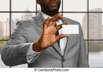 afroamerican, オフィス従業員, 提示, id.