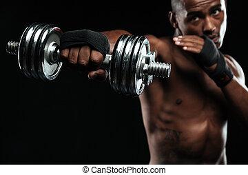 afroamerican, bokszoló, képzés, noha, félcédulások