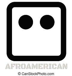 Afroamerican conceptual graphic icon. Design language...