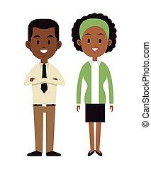 afroamerican couple happy cheerful vector illustration eps...