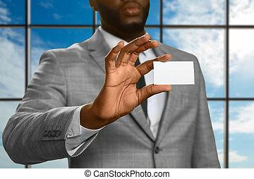 afroamerican, hím, látszik, meglátogat, card.