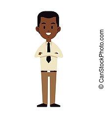 afroamerican man business employee work vector illustration...