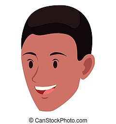 man face avatar cartoon character