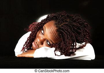 afroamerikanisch, träumende