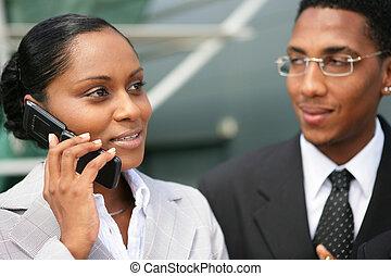 afroamerikansk, businesspeople