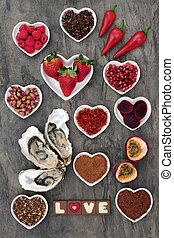afrodisiacum, voedingsmiddelen, sampler