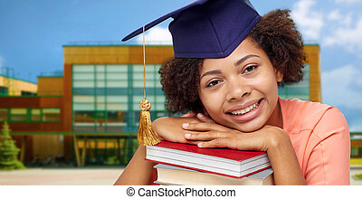 afrykańska amerikanka, książki, student, absolwent