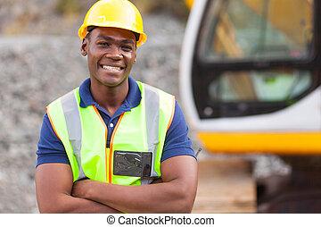 afrykańska amerikanka, przemysłowy pracownik