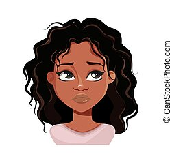 afrykańska kobieta, wzruszenie, amerykanka, przewrócić