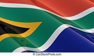 afryka, seamless, południe, bandera