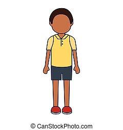 afrykanin, litera, avatar, ethnicity, człowiek