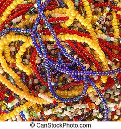 afrykanin, perła, naszyjniki