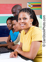 afrykanin, studenci, grupa