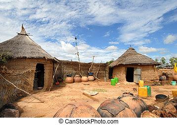 afrykanin, wieś