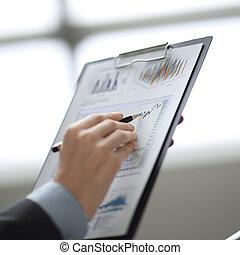 afsluiten, financieel, up.businessman, controles, data