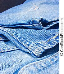 afsluiten, trousers., jeans, op