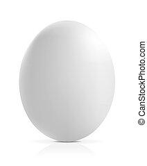 afsluiten, wit ei, op, achtergrond