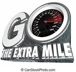 afstand, extra, extra, snelheidsmeter, resultaten, mijl, gaan, inspanning