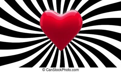 afstraffing, hart, rood