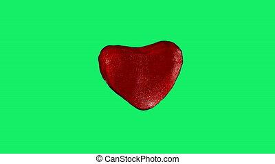 afstraffing, heart., rood