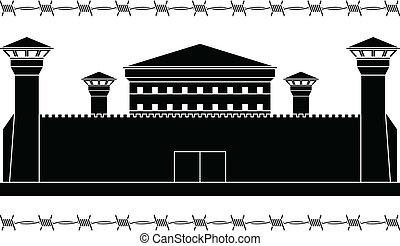 aftekenmal, gevangenis