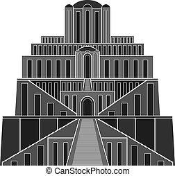 aftekenmal, ziggurat