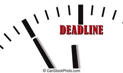 aftellen, animatie, deadline., klok