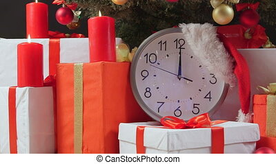 aftellen, jaarwisseling, kerstmis, klok