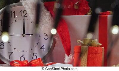 aftellen, jaarwisseling, klok