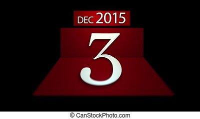 aftellen, nieuw, kalenderjaar