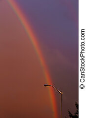 bright and wide rainbow after the storm