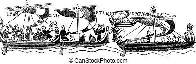 (after, bayeaux, tapestry), vendange, vaisseaux, william, ...