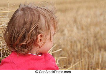 After harvest - Little baby on the stubble