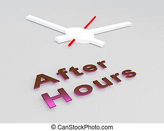 After Hours concept - 3D illustration of 'After Hours' title...