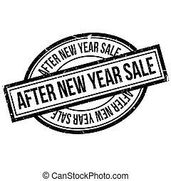 After New Year Sale rubber stamp