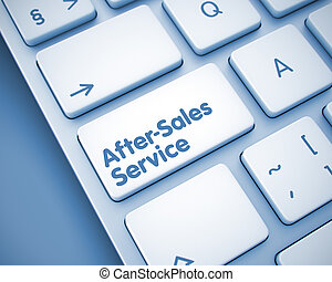 After-Sales Service - Inscription on Keyboard Keypad. 3D. -...