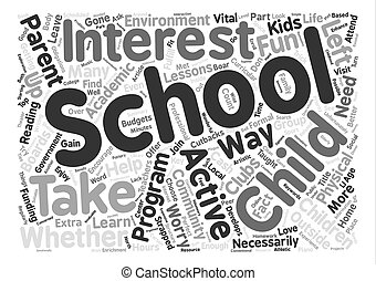 After School Programs text background word cloud concept