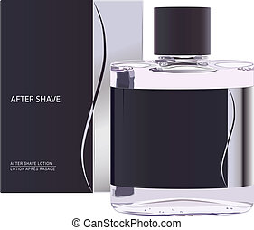 after shave lotion - vector realistic after shave lotion