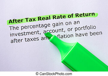 After Tax Real Rate of Return