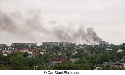 After the Artillery Strike in Donetsk