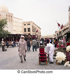 Afternoon in Doha Souq - DOHA - MARCH 29: An afternoon scene...
